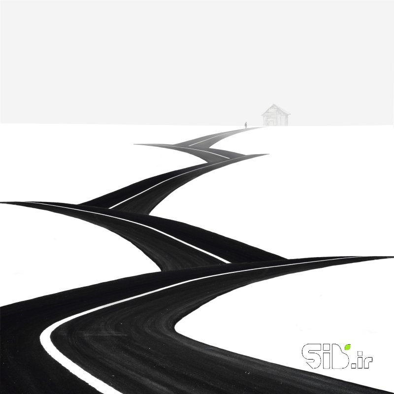 قاب عکس مدرن Steps فرای واقعیت / فوتو مونتاژ اثر حسین زارع