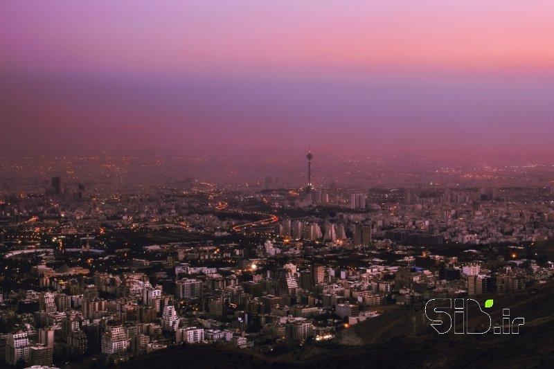 قاب عکس تهران و غروب چشم انداز  شهری اثر محمد شکوهی راد