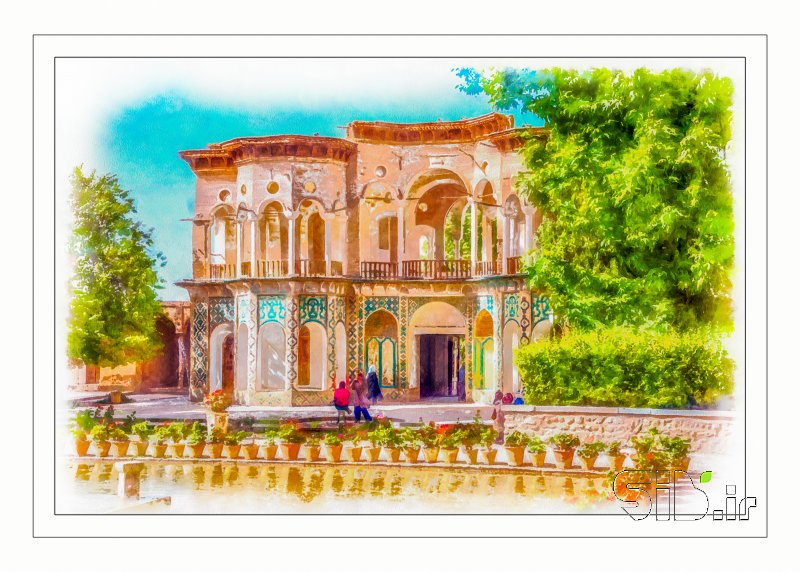 قاب عکس مدرن باغ شاهزاده ماهان نقاشی دیجیتال اثر محسن محياپور