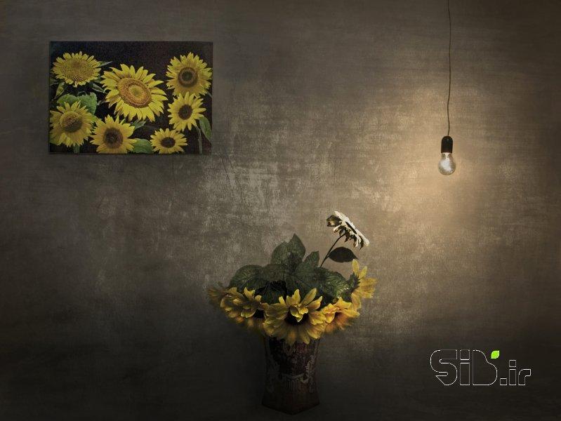 قاب عکس مدرن و خورشید برای همیشه رفت معنا گرا اثر هادی دهقان پور