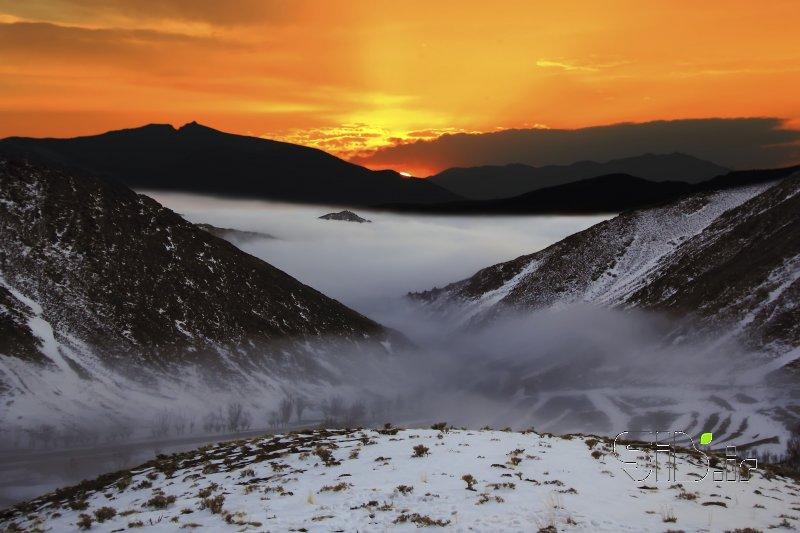 غروب و مه