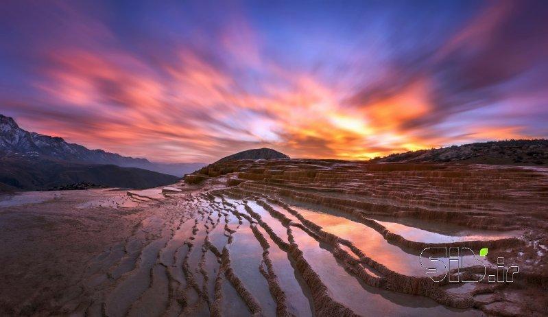 Sunset Scene of Badab-surt