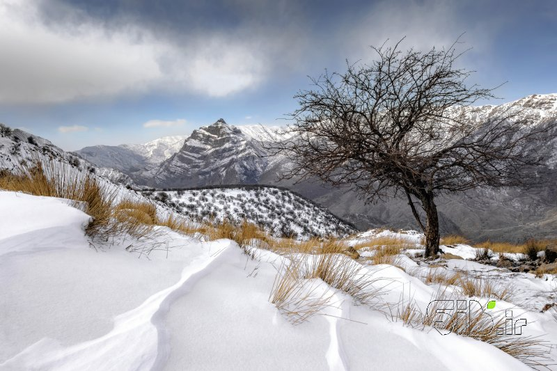 دورنمای کوه قارون
