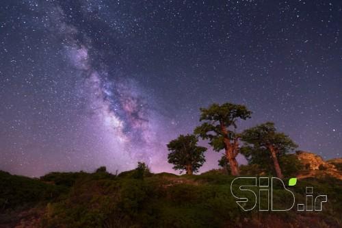 کهکشهان راه شیری بر فراز جهاننما