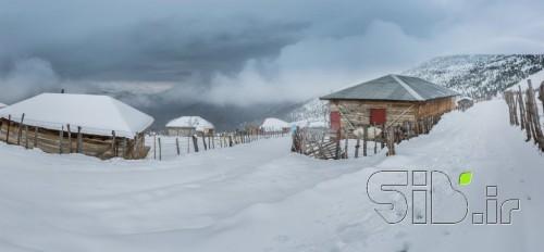 روستا در برف