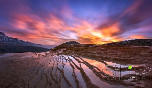 Sunset Scene of Badab-surt