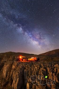 کهکشهان راه شیری بر فراز قله درفک