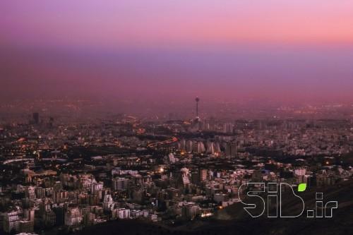 تهران و غروب