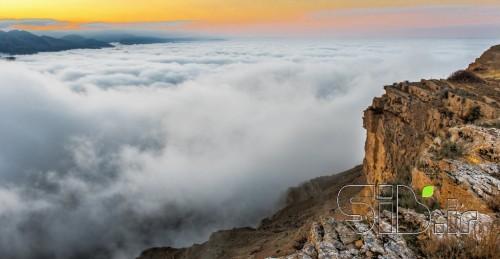 کوهستان در مه